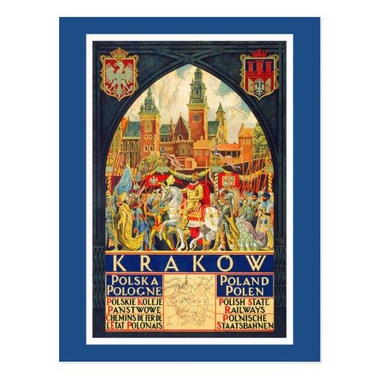 Polish Vintage Travel Poster Postcard