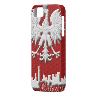 Polish White Eagle Chicago Skyline iPhone 5 Case-M Case For The iPhone 5