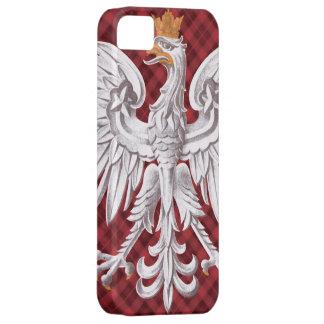 Polish White Eagle Plaid iPhone 5 Case-Mate Barely