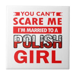 Polish Wife Small Square Tile