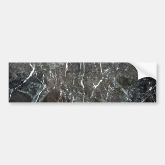 Polished black marble bumper sticker