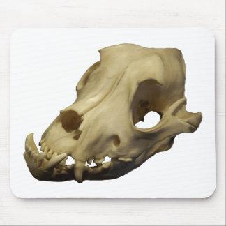 Polished Bulldog Canine Skull Mouse Pad