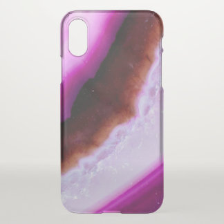 Polished Purple Agate With Quartz iPhone X Case