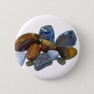 Polished Rocks 6 Cm Round Badge