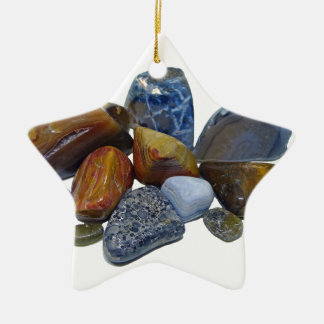 Polished Rocks Ceramic Ornament