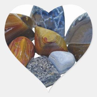 Polished Rocks Heart Sticker