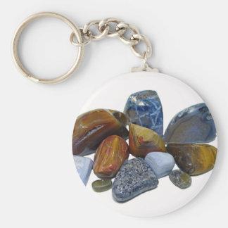 Polished Rocks Key Ring