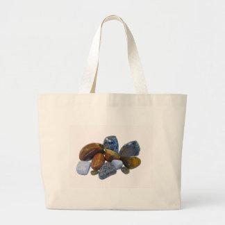 Polished Rocks Large Tote Bag