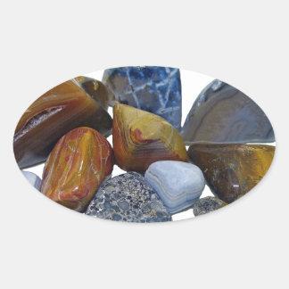Polished Rocks Oval Sticker