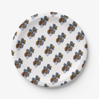 Polished Rocks Paper Plate