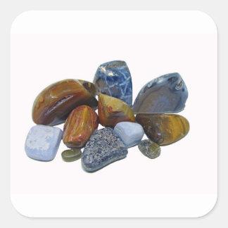 Polished Rocks Square Sticker