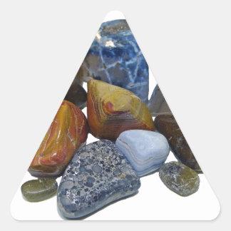 Polished Rocks Triangle Sticker