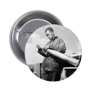 Polishing My Projectile, 1940s Pinback Button