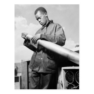 Polishing My Projectile, 1940s Postcard