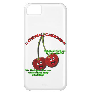 polite cordial cherries cartoon on stems iPhone 5C case