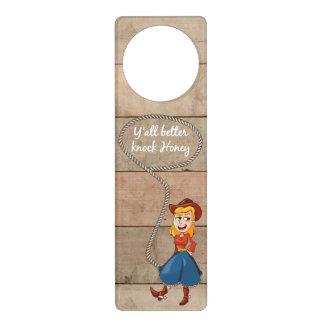 Polite Country Girl Door Knob Hangers