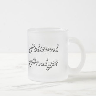 Political Analyst Classic Job Design Frosted Glass Mug