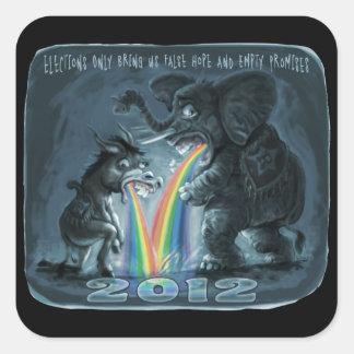 Political Animals Puking Rainbows Sticker