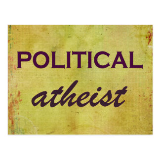 Political Atheist Postcard