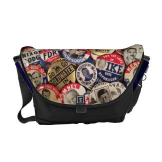 Political Button Shoulder Bag Courier Bag