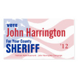 Political Campaign Card - County Sheriff
