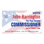 Political Campaign - County Commissioner Business