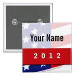 Political Campaign, CYO Stars and Stripes Pinback Button