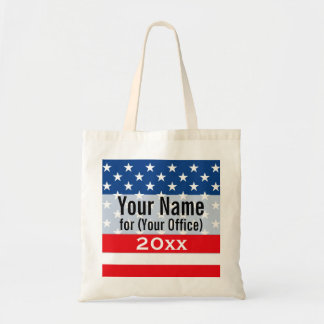 Political Campaign Non-Partisan Printed Candidate Canvas Bags