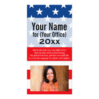Political Campaign Non-Partisan Printed Candidate Card