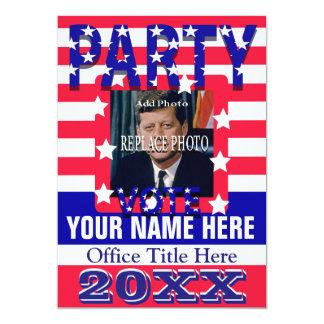 Political Campaign Party Invitation