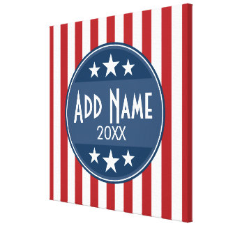 Political Campaign - Patriotic Stars and Stripes Canvas Print