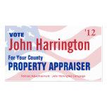 Political Campaign - Property Appraiser Business Business Cards