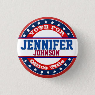 Political Campaign Template 3 Cm Round Badge