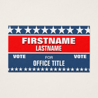 Political Campaign Template Business Card