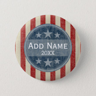 Political Campaign - vintage stars and stripes 6 Cm Round Badge