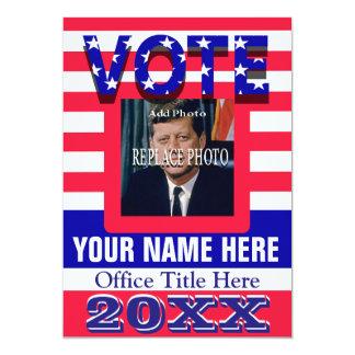 Political Campaign Vote 13 Cm X 18 Cm Invitation Card