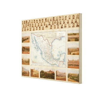 Political Chart Stretched Canvas Prints