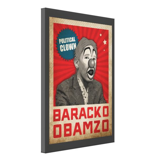 Political Clown Canvas Prints