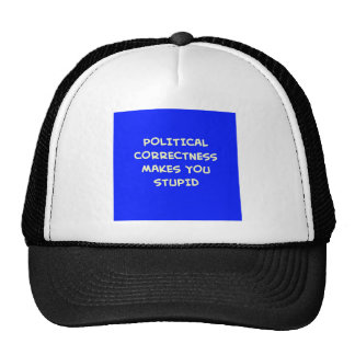 POLITICAL CORRECTNESS MAKES YOU STUPID TRUCKER HAT