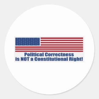 Political Correctness Round Stickers