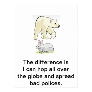 Political difference postcard