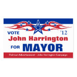 Political Election Campaign Card - Mayor Pack Of Standard Business Cards