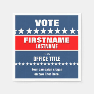 Political Election Campaign Template Disposable Napkins