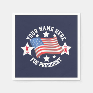Political Election Campaign Template with Flag Paper Napkin