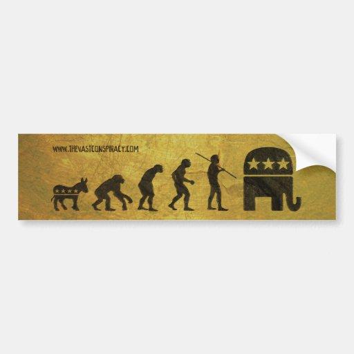 Political Evolution Bumper Stickers