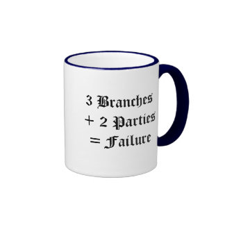 Political Failure Ringer Coffee Mug