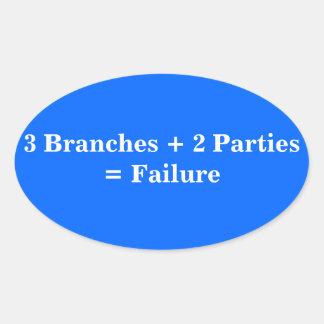 Political Failure Oval Sticker