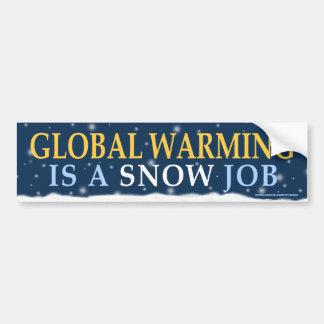 "Political ""Global Warming Snow Job"" bumper sticker"