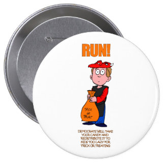 Political Halloween Trick or Treat 10 Cm Round Badge