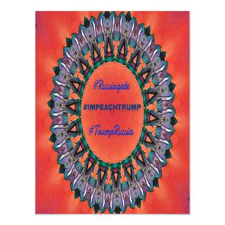 Political #Impeachtrump Russiagate Mandala Magnetic Card